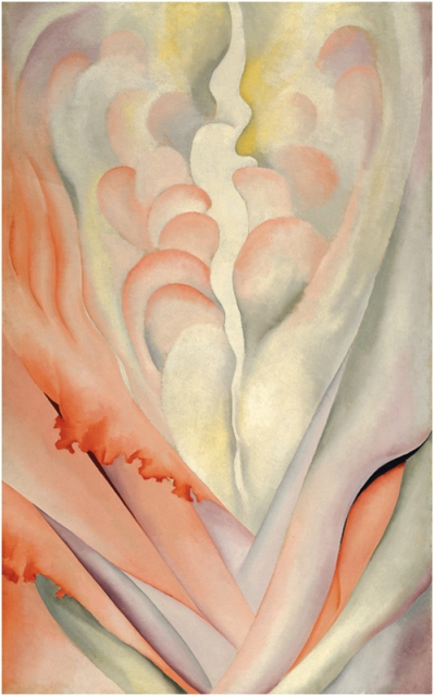 Georgia O'Keeffe, Flower Abstraction, 1924. Oil on canvas, 48 × 30 in. (121.9 × 76.2 cm). Whitney Museum of American Art, New York; 50th Anniversary Gift of Sandra Payson  85.47  On view © 2009 Georgia O'Keeffe Museum / Artists Rights Society (ARS), New York