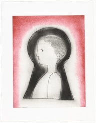 Louise Bourgeois. Untitled (Boy through a Keyhole), state IV, variant. 2003