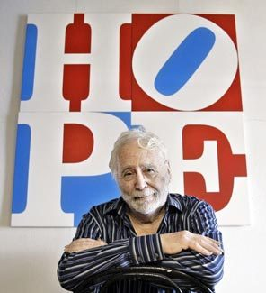 JOEL PAGE / AP Artist Robert Indiana created the pop icon LOVE and has done something similar with his latest image.