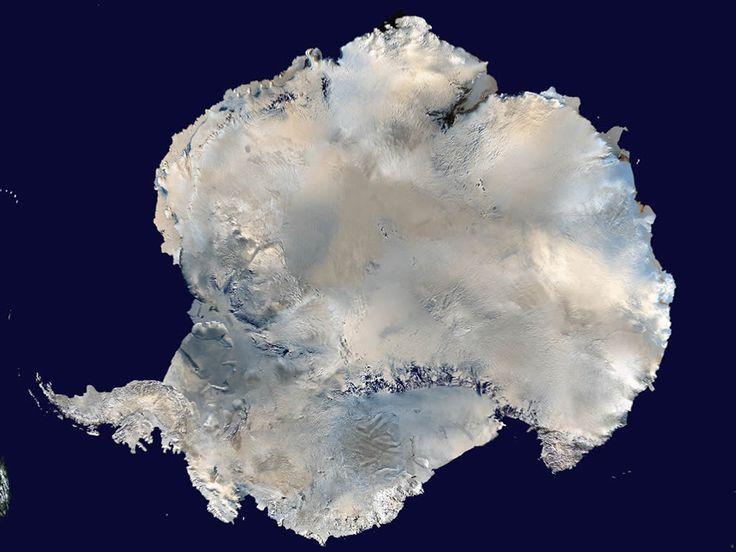 A satellite picture of Antarctica. Credit: NASA