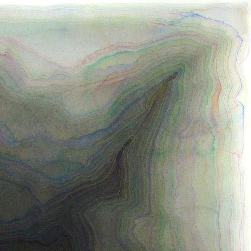 Christine Beau - Sedimentation, 2013 - watercolor on arches paper