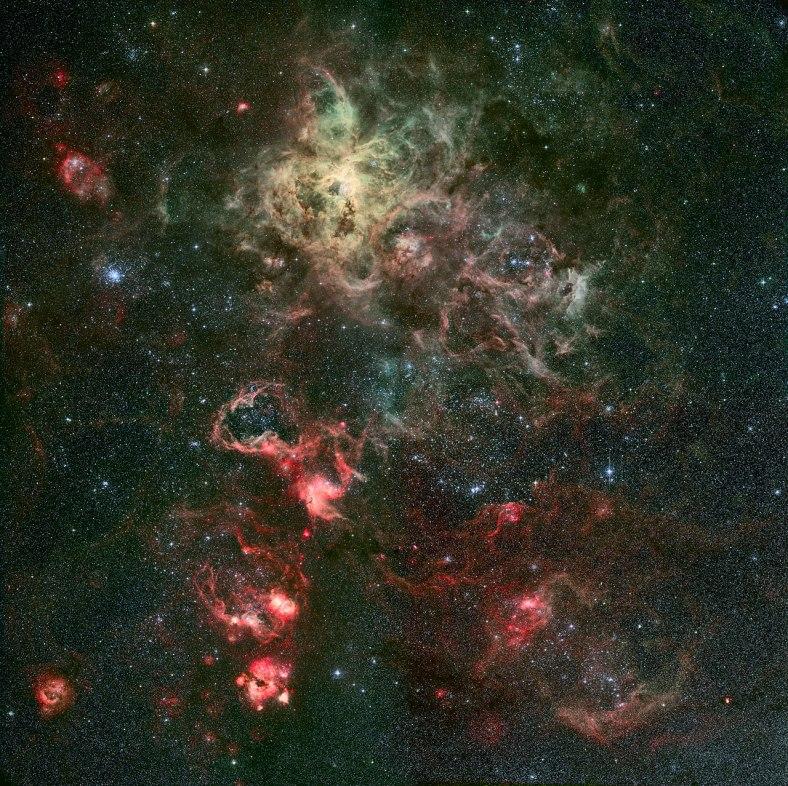 Portrait d'un dramatique berceau stellaire Crédit: ESO/R. Fosbury (ST-ECF)