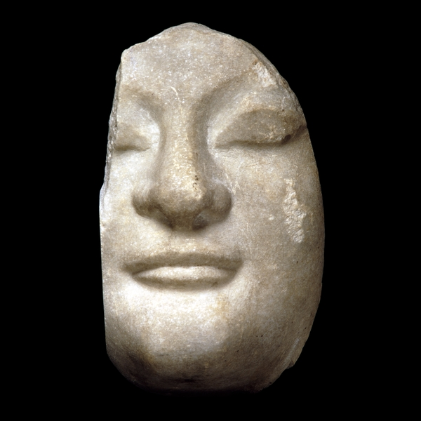 Marble head of a woman Greek, about 550-520 BC From the Temple of Artemis at Ephesos, modern Turkey