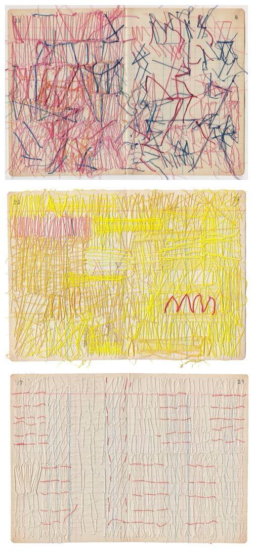 Sharon Etgar - Thread drawings