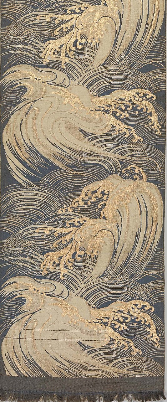 Obi with Stylized Waves The Metropolitan Museum of Art