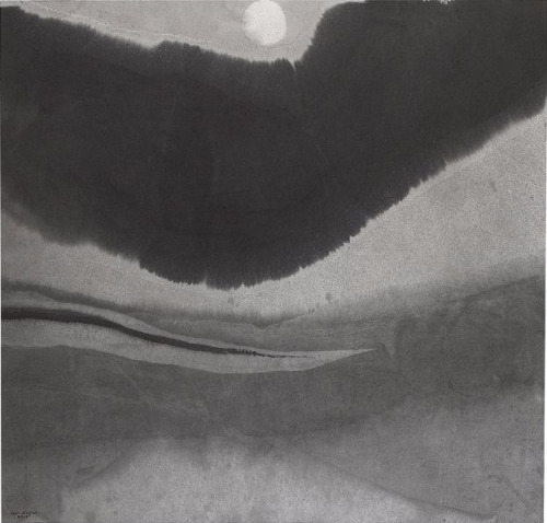 GAO XINGJIAN 高行健 Moonlight 2014 / Au Clair de la Lune, 2014 Chinese ink on paper 35 3/5 × 37 in 90.5 × 94 cm