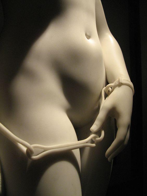 The Greek Slave, Hiram Powers, detail.